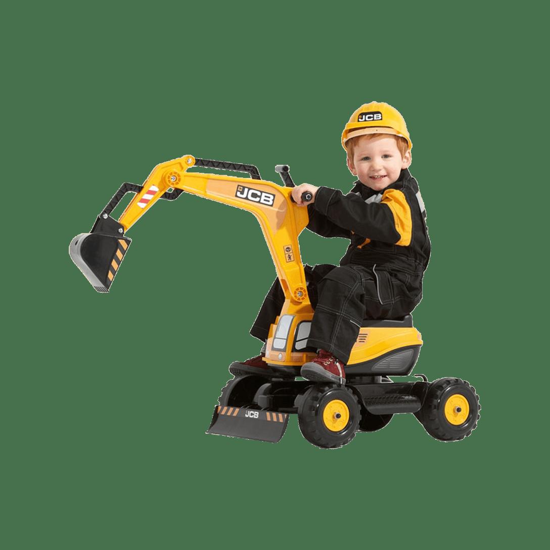 Falk JCB Excavator With Opening Seat & Helmet