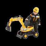 JCB Excavator with Opening Seat & Helmet Image 2