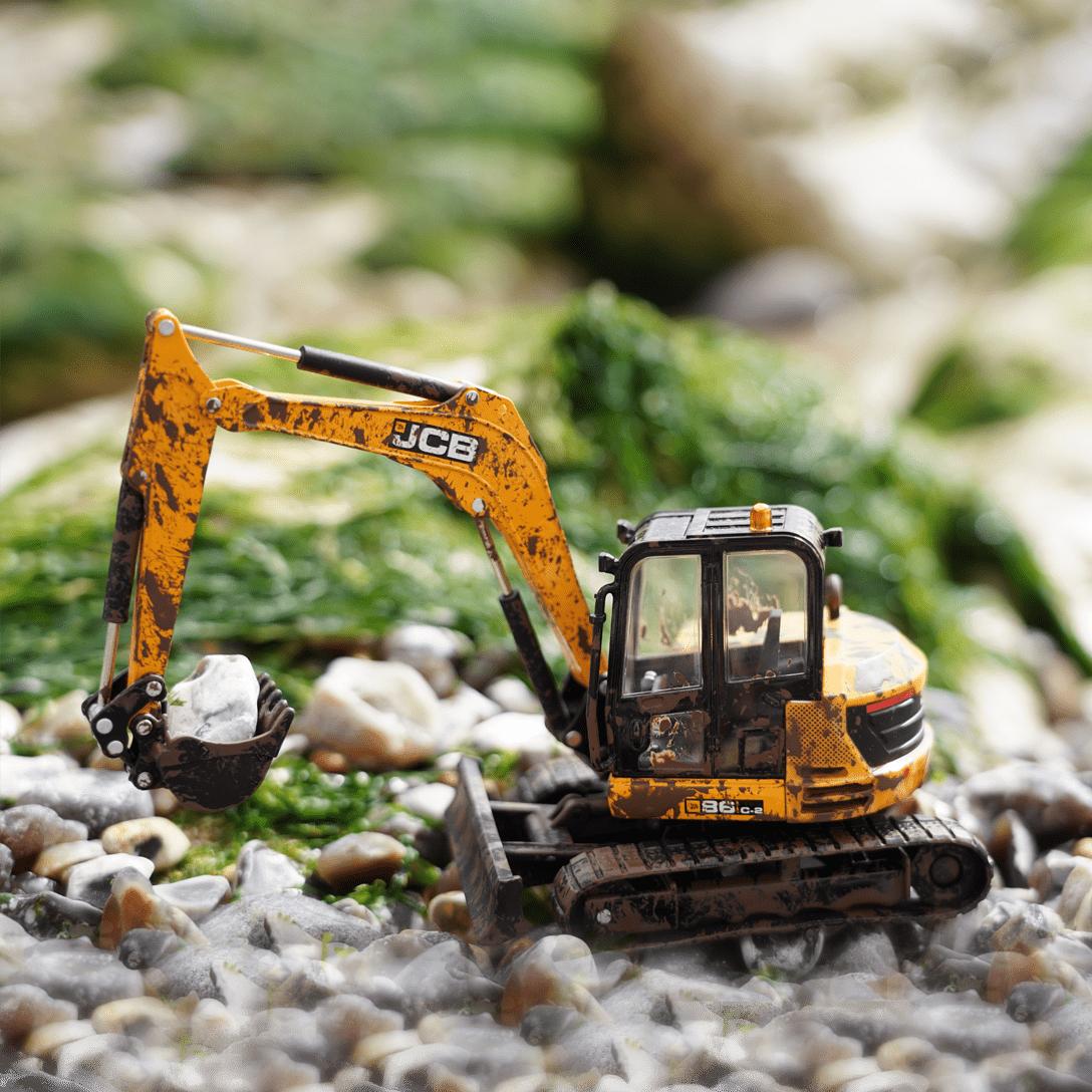 JCB Muddy Excavator 86C-2 1:32 Model