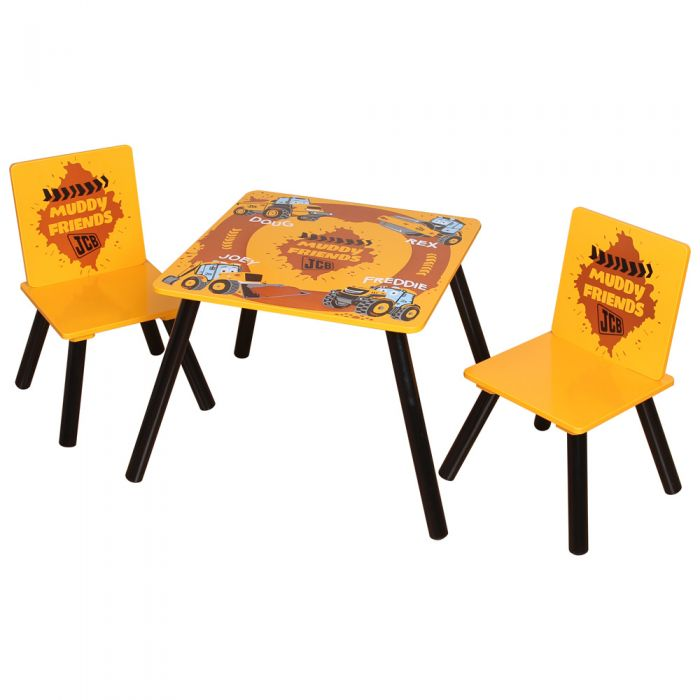 JCB Muddy Friends Table & 2 Chairs